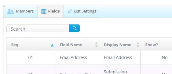 add/edit lists