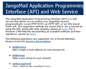 Jango Mail Programming Interface helps you send email using api