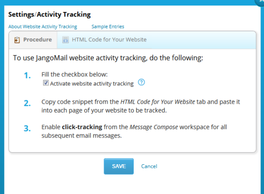 Website Activity Tracking