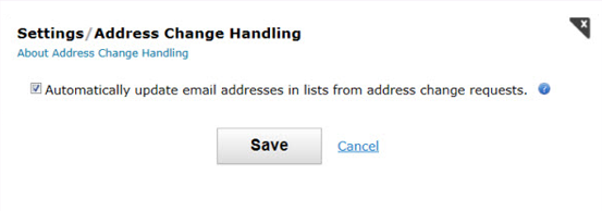 Change of Email Address Requests